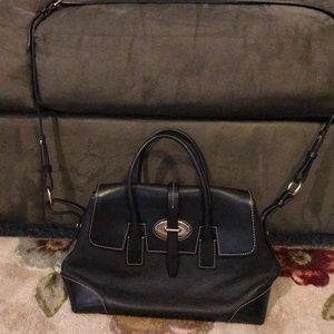 Dooney & Bourke black leather bag.